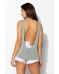 Truly Madly Deeply - Green Drape-back Tank Top - Lyst
