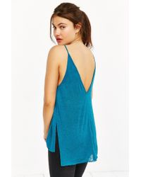 Project Social T - Blue Double-v Cami - Lyst