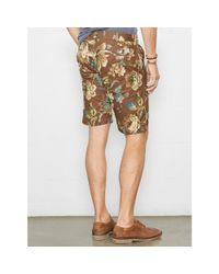 Denim & Supply Ralph Lauren - Brown Floral Cotton Poplin Short for Men - Lyst
