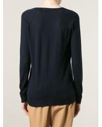 Forte Forte - Blue Fine-Knit Cashmere Sweater - Lyst