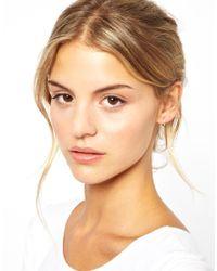 Laura Lee | Metallic Exclusive For Asos Silver Sleeper Hoop Earrings | Lyst