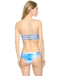 Mikoh Swimwear - Multicolor Sunset Bandeau Bikini Top - Whitewater Fiji - Lyst
