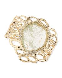 Alexis Bittar - Metallic Aiguille Liquid Aqua Crackle Glass Cuff - Lyst