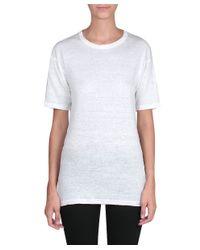 Étoile Isabel Marant - White Keiran Linen T-shirt - Lyst