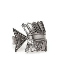House of Harlow 1960 | Metallic Antiqued Accented Arrow Cuff | Lyst