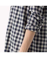 Tommy Hilfiger | Blue Cotton Viscose Check Shirt | Lyst
