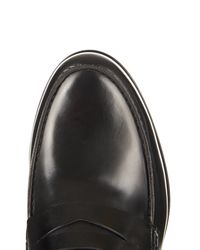 Lanvin | Black High-shine Leather Loafers for Men | Lyst