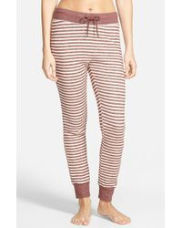 Volcom - Brown 'lived In' Stripe Sweatpants - Lyst