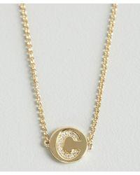 KC Designs | Metallic Gold And Diamond 'c' Initial Pendant Bracelet | Lyst