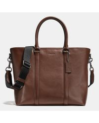 COACH | Black Metropolitan Tote In Sport Calf Leather for Men | Lyst