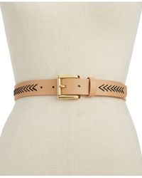 Vince Camuto | Black Belt With Chevron Lacing | Lyst