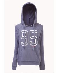 Forever 21 - Blue Varsity 95 Sleep Hoodie You've Been Added To The Waitlist - Lyst