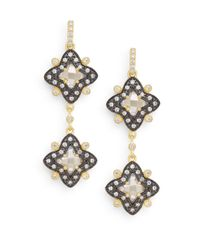 Freida Rothman | Metallic Two-tone Etoile Drop Earrings | Lyst