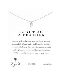 Dogeared - Metallic Sterling Silver Light As A Feather Reminder Necklace - Lyst