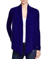 Aqua - Blue Cashmere Cashmere Drape Front Cardigan - Lyst