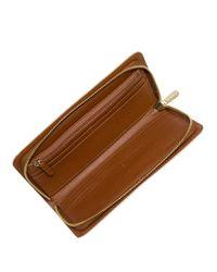 MICHAEL Michael Kors | Brown Zip Around Wallet | Lyst