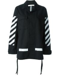 Off-White c/o Virgil Abloh | Black Striped Cargo Jacket | Lyst