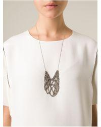 Arielle De Pinto | Metallic 'Netted Drop' Necklace | Lyst