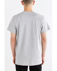 Adidas - Gray Originals Trefoil Logo Tee for Men - Lyst