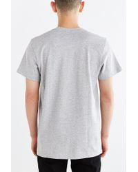 Adidas | Gray Originals Trefoil Logo Tee for Men | Lyst