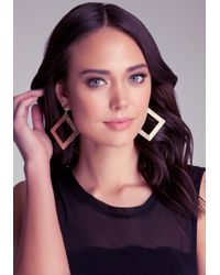 Bebe - Metallic Diamond Dust Earrings - Lyst