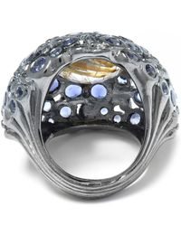 Stephen Dweck - Metallic Silver Gold Quartz Iolite Ventre Orb Ring - Lyst