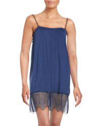 Joe's Jeans | Blue Lace-accented Chemise | Lyst