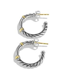 David Yurman | Metallic Metro Hoop Earrings | Lyst