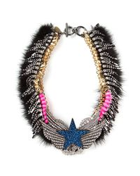 Venna | Multicolor Embellished Star Collar Necklace | Lyst