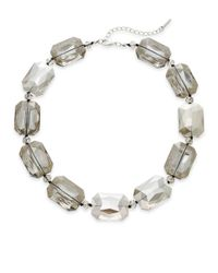 Saks Fifth Avenue | Metallic Faceted Stone Statement Necklace | Lyst