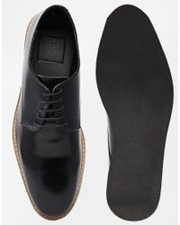 ASOS | Derby Shoes In Black Leather for Men | Lyst