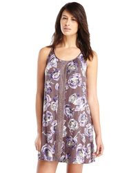 Midnight By Carole Hochman - Purple Painterly Jersey Chemise - Lyst