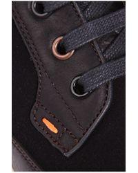 BOSS Orange Blue Leather Sneakers 'soundcarrel' for men