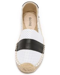 Soludos | White Original Leather Barca Perforated Espadrilles | Lyst