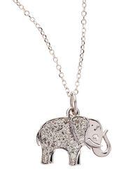 KC Designs - 14k White Gold Diamond Elephant Pendant Necklace - Lyst
