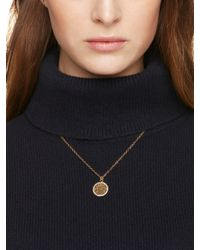 Kate Spade | Metallic All That Glitters Druzy Pendant | Lyst