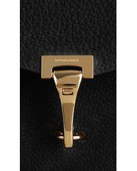 Burberry - Black Nubuck Leather Crossbody Bag - Lyst