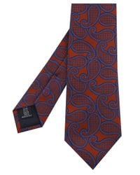 Corneliani - Brown Paisley Tie for Men - Lyst