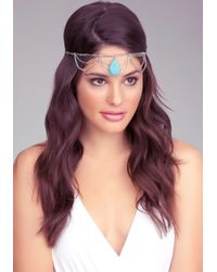 Bebe - Metallic Stone Chain Headpiece Online Exclusive - Lyst