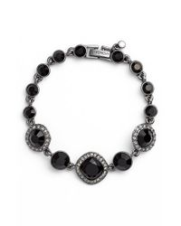 Givenchy | Jeweled Line Bracelet - Hematite/ Black | Lyst