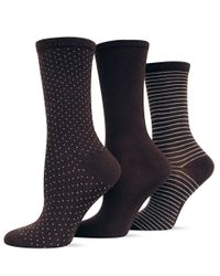 Hot Sox | Brown Printed Three Pack Trouser Socks | Lyst