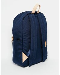 Herschel Supply Co. | Blue Winlaw Backpack In Cordura 16.75l With Leather Trim for Men | Lyst
