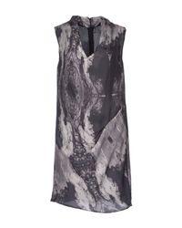 2nd Day - Gray Short Dress - Lyst