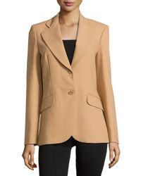 Michael Kors - Natural Double-button Jacket - Lyst