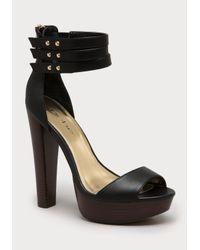 Bebe | Black Joon Platform Sandals | Lyst