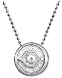 Alex Woo | Metallic Little Faith Evil Eye Pendant Necklace In Sterling Silver | Lyst