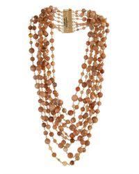 Rosantica By Michela Panero | Brown Pegaso Rose-Quartz Bead Necklace | Lyst