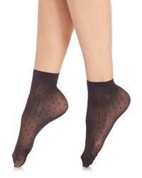 Wolford - Black Daria Socks - Lyst