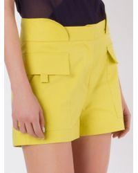 Giuliana Romanno | Yellow Mid Rise Shorts | Lyst