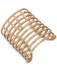 Lucky Brand | Metallic Gold-tone Multi-row Cuff Bracelet | Lyst
